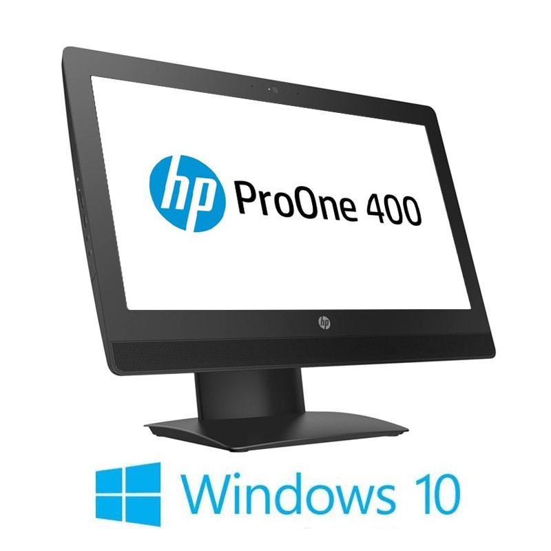 All-in-One HP ProOne 400 G3, Quad Core i7-6700T, SSD, 20 inci, Webcam, Win 10 Home