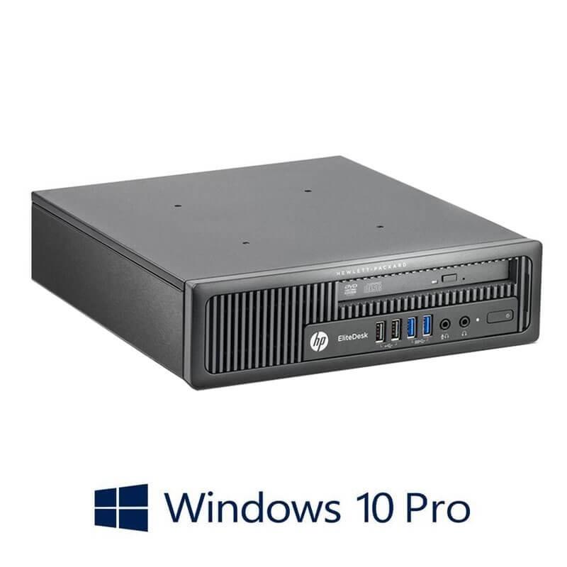Calculatoare HP EliteDesk 800 G1 USDT, Quad Core i5-4570S, 8GB DDR3, Win 10 Pro
