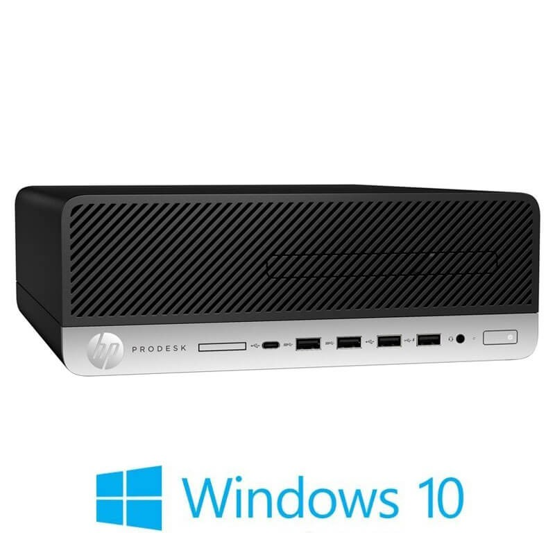 Calculatoare HP ProDesk 600 G3 SFF, i3-6100, 8GB DDR4, 240GB SSD NOU, Win 10 Home