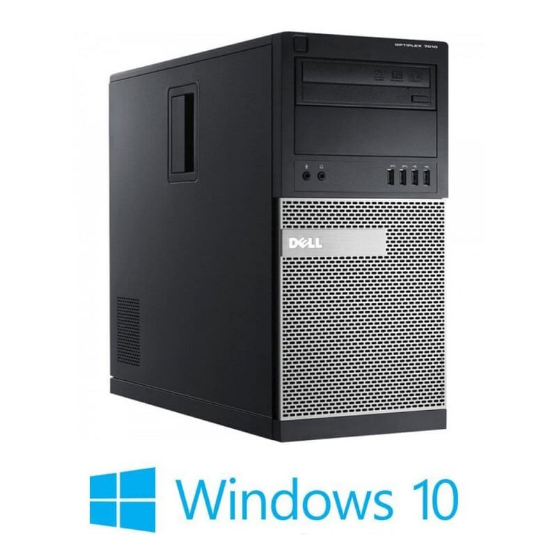 Calculator Dell OptiPlex 7010 MT, Quad Core i5-3470, 120GB SSD, Windows 10 Home