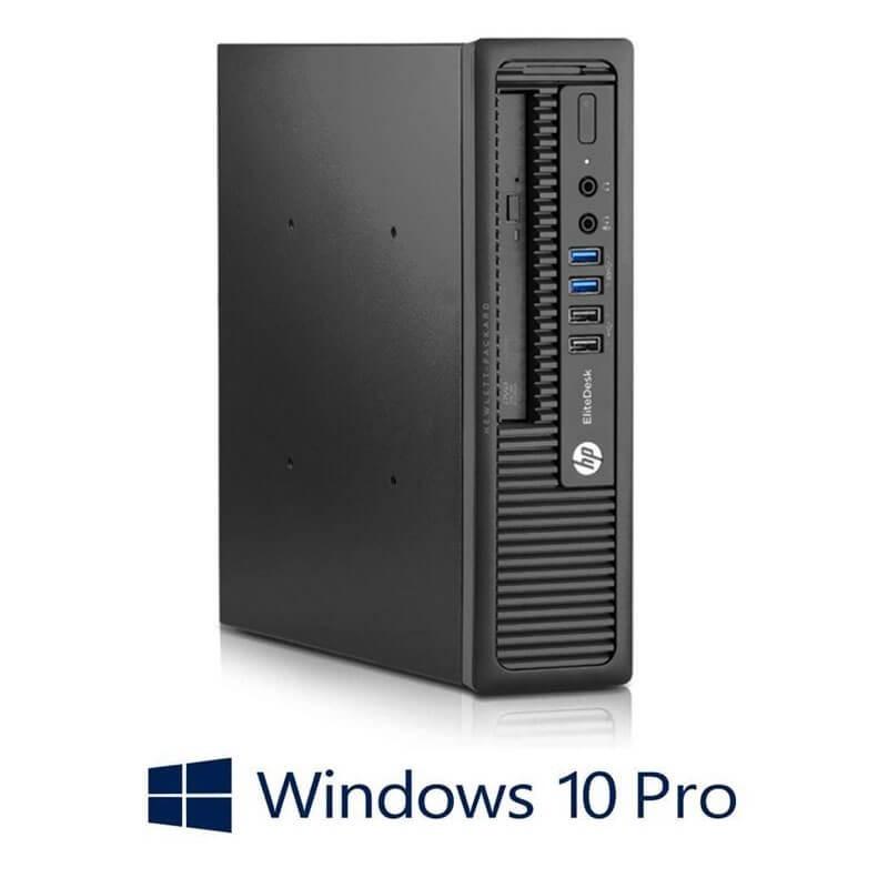 Calculator HP EliteDesk 800 G1 USDT, Quad Core i5-4590S, 256GB SSD, Win 10 Pro