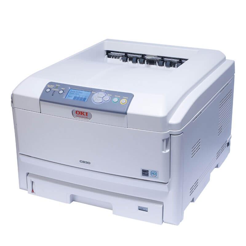 Imprimanta Refurbished A3 LED Color OKI C830, USB, Retea, Paralel