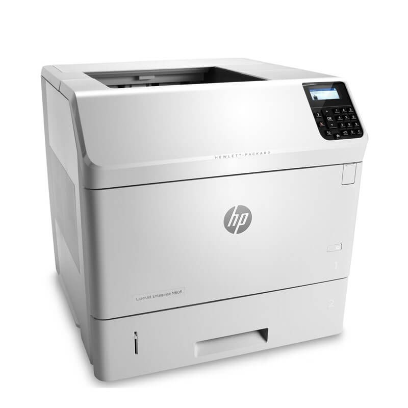 Imprimanta second hand Monocrom HP LaserJet Enterprise M606dn, Cartus NOU Full