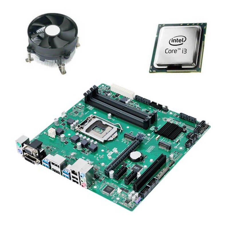 Kit Placi de baza Refurbished Asus PRIME B250M-C, Intel Core i3-6100T, Cooler