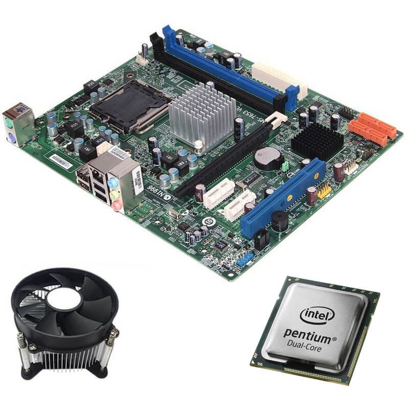Kit Placi de baza Refurbished Medion MS-7653, Intel Dual Core E5500, Cooler