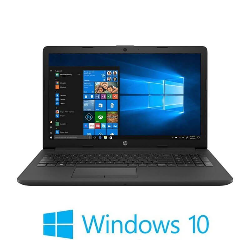 Laptop HP 255 G7, AMD Ryzen 3 2200U, 256GB SSD, 15.6 inci, Webcam, Win 10 Home