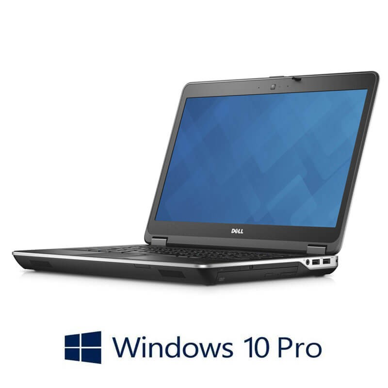 Laptop Refurbished Dell Latitude E6440, i7-4600M, 256GB SSD, Webcam, Win 10 Pro