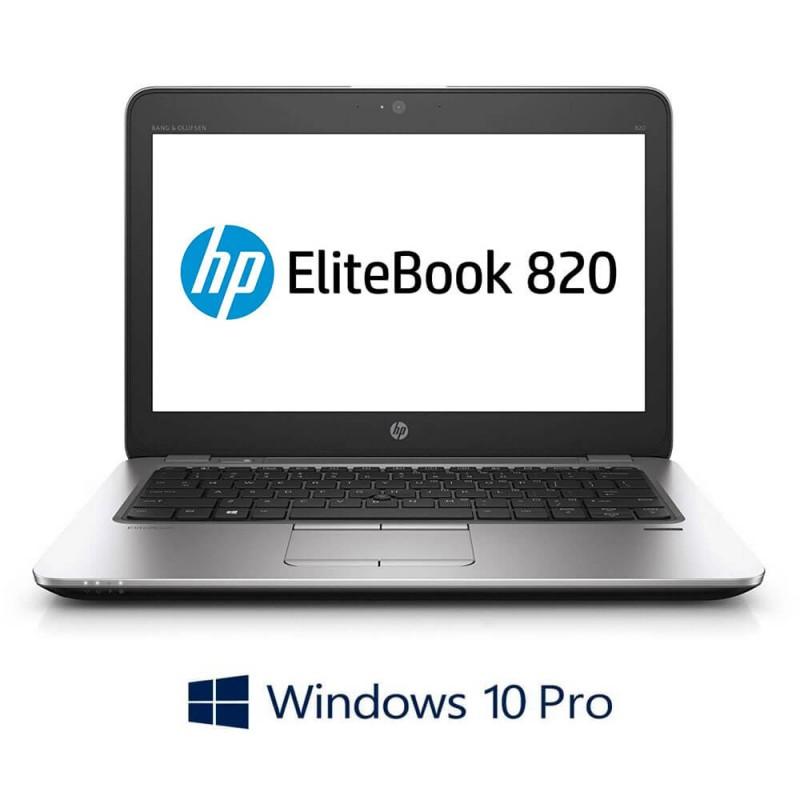 Laptop Refurbished HP EliteBook 820 G3, i5-6300U, Full HD, Windows 10 Pro