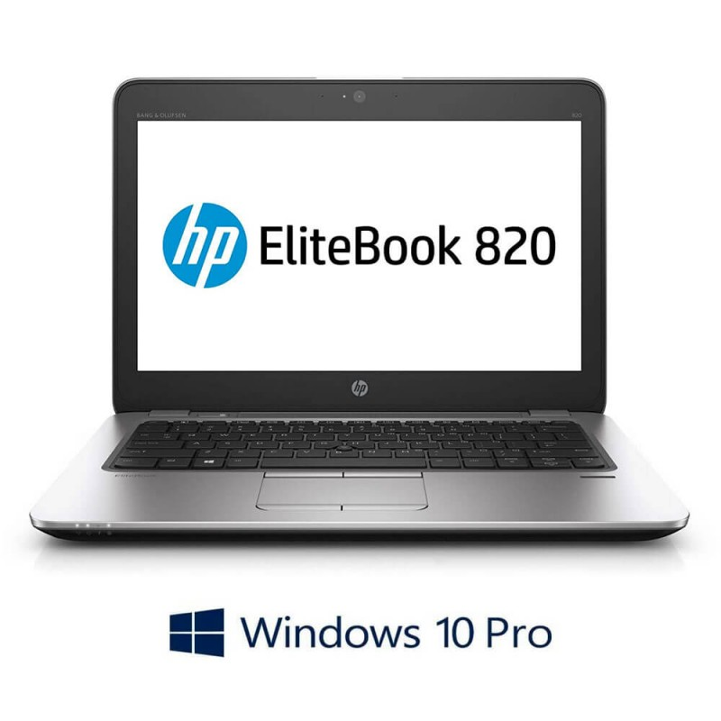 Laptop Refurbished HP EliteBook 820 G3, Intel i5-6300U, Windows 10 Pro