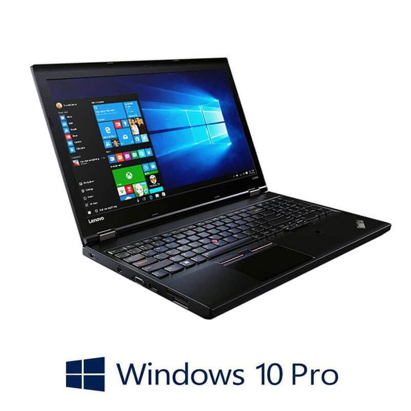 Laptop Refurbished Lenovo ThinkPad L560, i5-6300U, Full HD, Webcam, Win 10 Pro