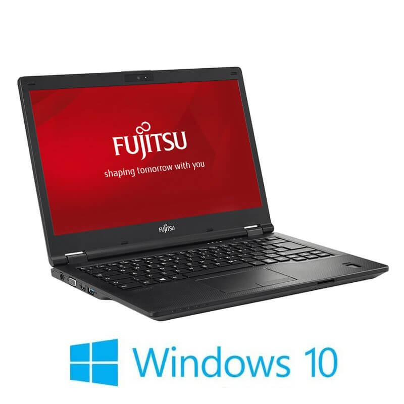 Laptopuri Refurbished Fujitsu LIFEBOOK E449, i3-8130U, SSD, FHD, Webcam, Win 10 Home