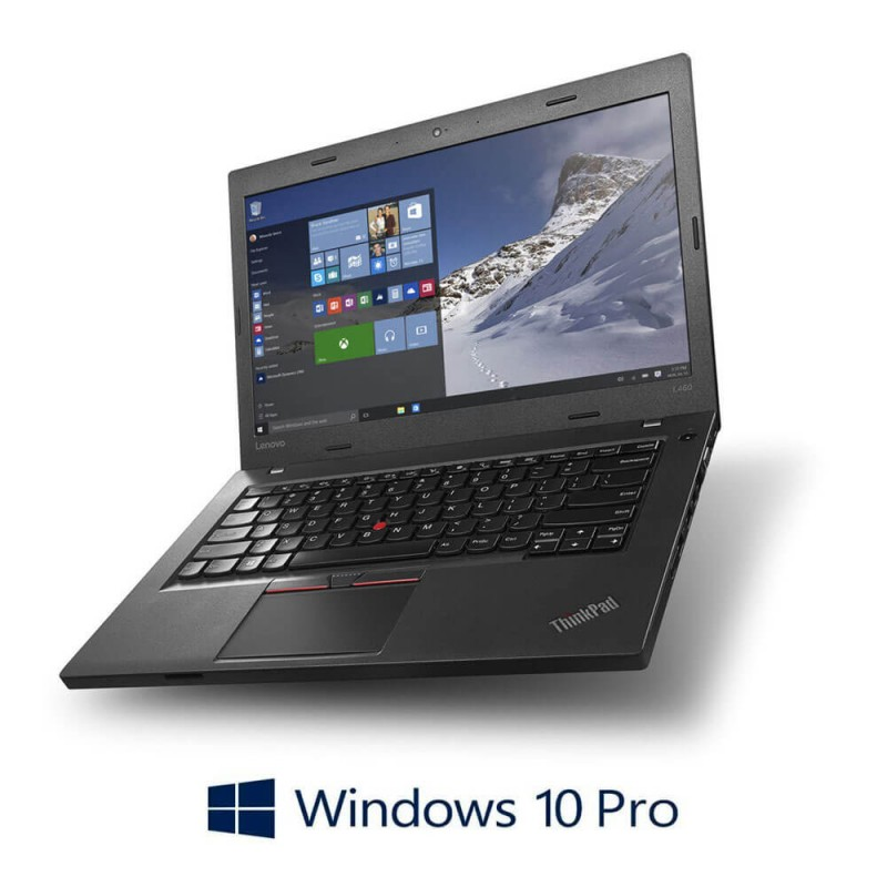 Laptopuri Refurbished Lenovo ThinkPad L560, i5-6300U, SSD, Webcam, Windows 10 Pro