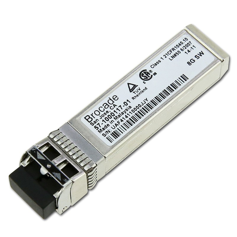 Mini GBIC Transceiver Refurbished Brocade 57-1000117-01, 8G FC SWL SFP+