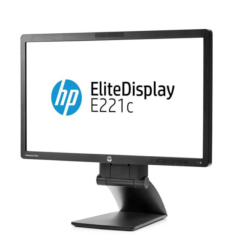 Monitor LED HP EliteDisplay E221c, IPS Full HD, Webcam