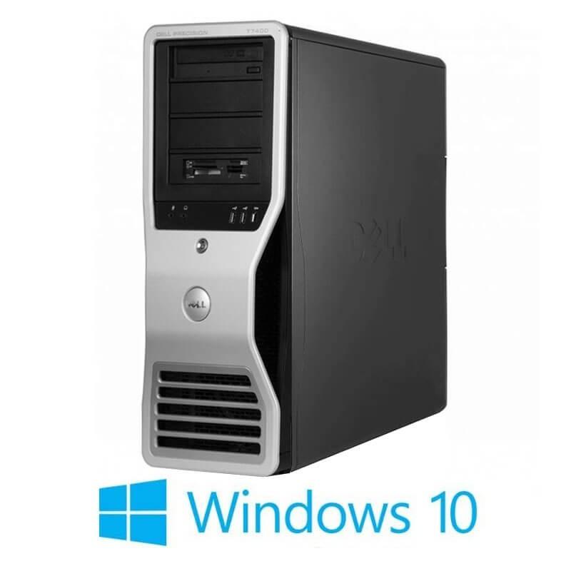 Statie grafica Dell Precision T7400, Xeon E5430, 16GB, Quadro FX 4600, Win 10 Home