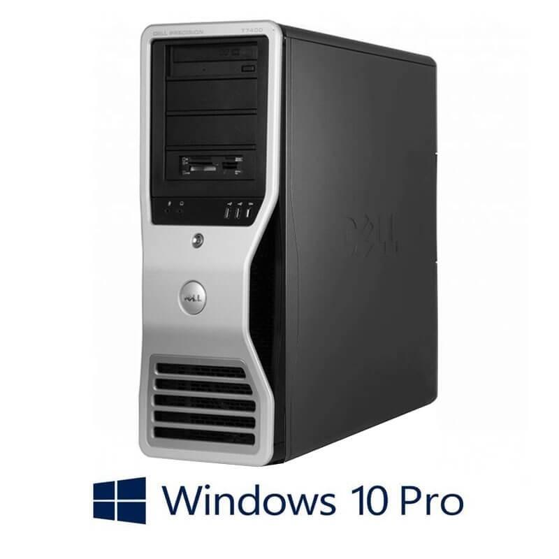 Statie grafica Dell Precision T7400, Xeon E5430, 16GB, Quadro FX 4600, Win 10 Pro