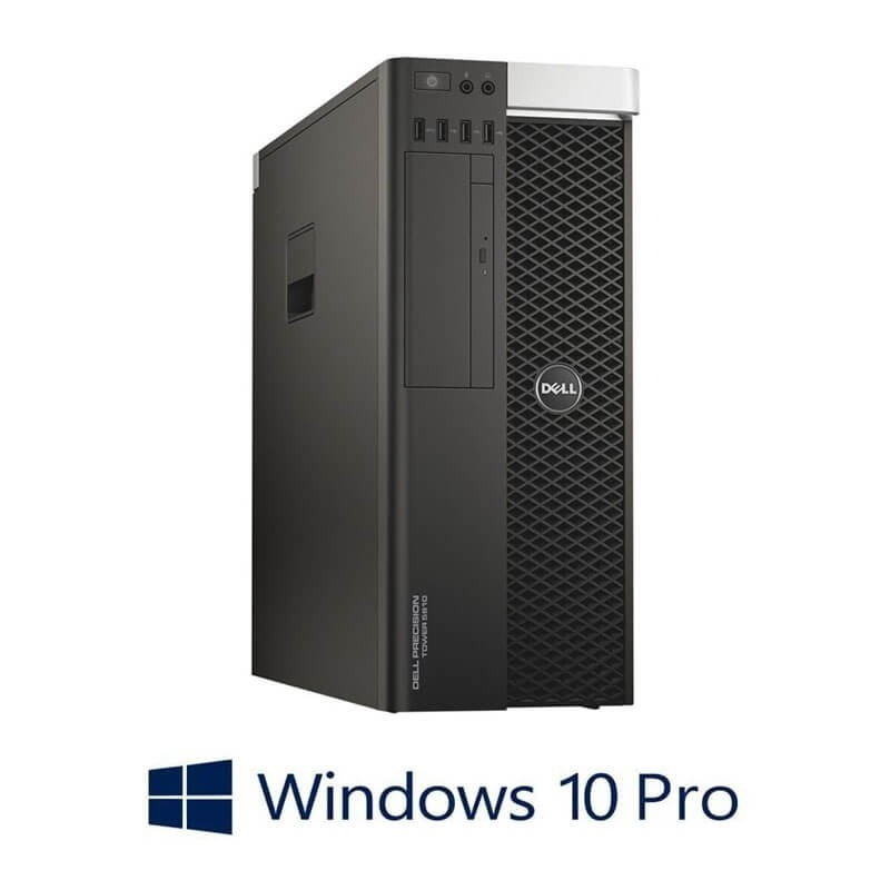 Statie grafica Refurbished Dell Precision 5810 MT, E5-2680 v3, 64GB, Quadro K4200, Win 10 Pro
